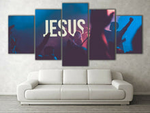 Framed split canvas prints Jesus print Modern DJ Art Living room Diamond Shape