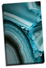 Mineral Cut Blue Crystal Framed Canvas Print Abstract Room Wall Art