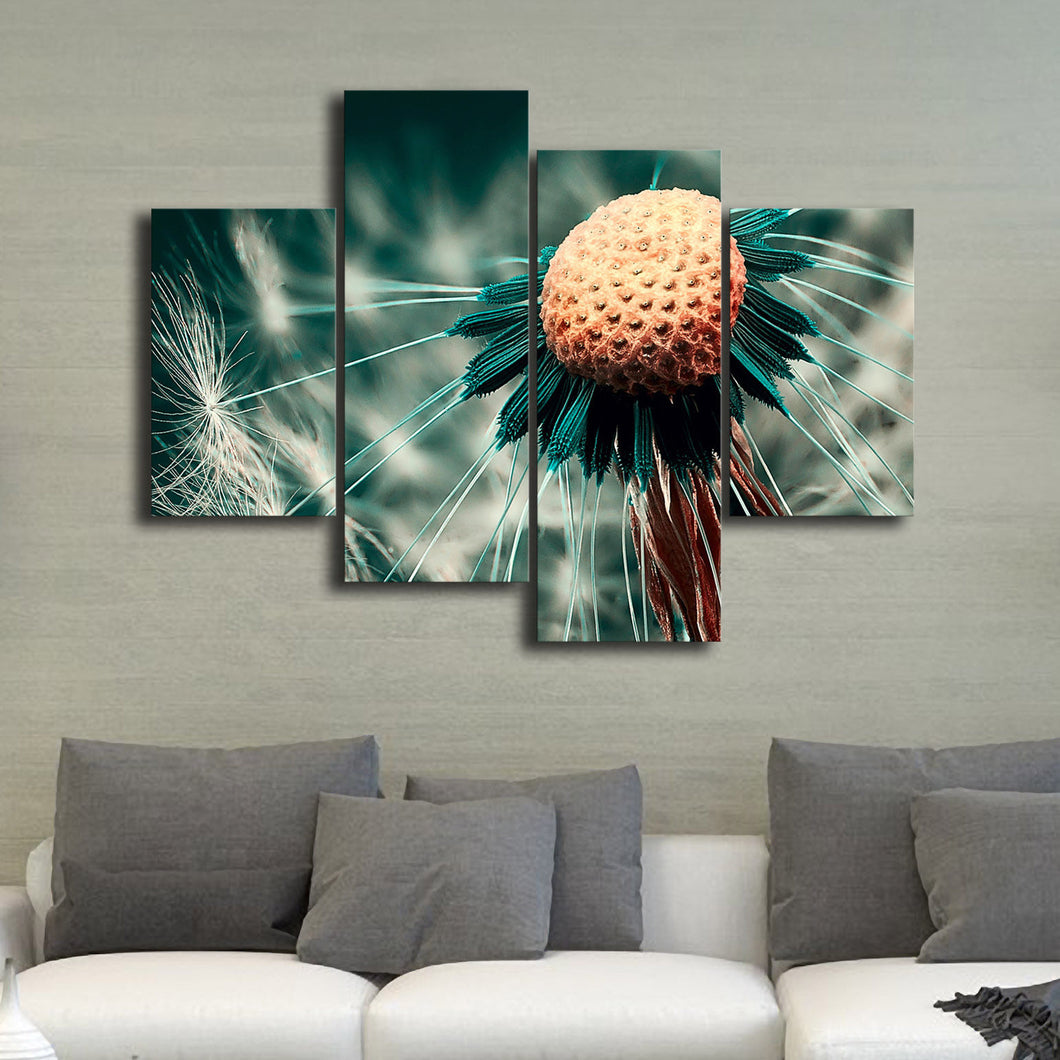 Vivid Dandelion Framed Split Canvas Prints Wall Art Home Decor Painting