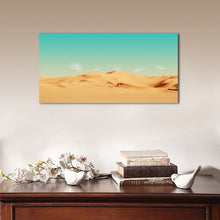 Framed stretched canvas desert green aqua sky aurora print prints wall art