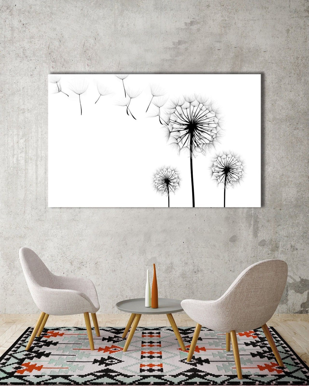 Vivid Dandelion Framed Canvas Print Stretched Wall Art Home Decor Painting