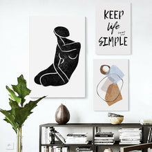 Venus Keep life simple Stretched Canvas Prints Abstract Wall Art Home Sweet Home