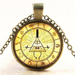 Steampunk Bill Cipher Pendant Necklace (Handmade)