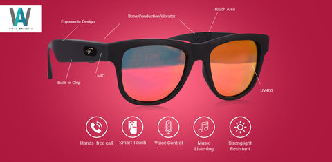 de32b8e99e Ark View sunglasses with the aid of bone conduction technology   Bluetooth  enables you to listen to music