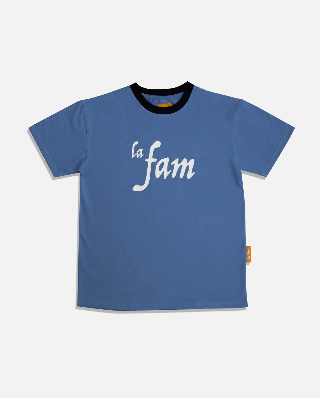 'WE START AND END WITH THE FAM' BLUE - La Fam Amsterdam-streatwear-fashion-amsterdam based-amsterdam streatwear-kledingmerk-amsterdams kledingmerk