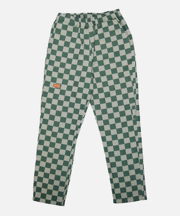 GREEN CHECKED PANTS - La Fam Amsterdam