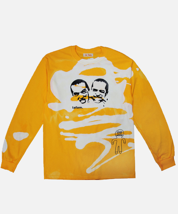 YELLOW DAD LONG SLEEVE - La Fam Amsterdam