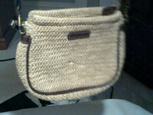 Connections Twine Crossbody Handbag with Leather Trim and Handle/Strap