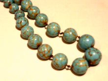 13' Strand of Graduated Turquoise Howlite Bead Necklace - New!