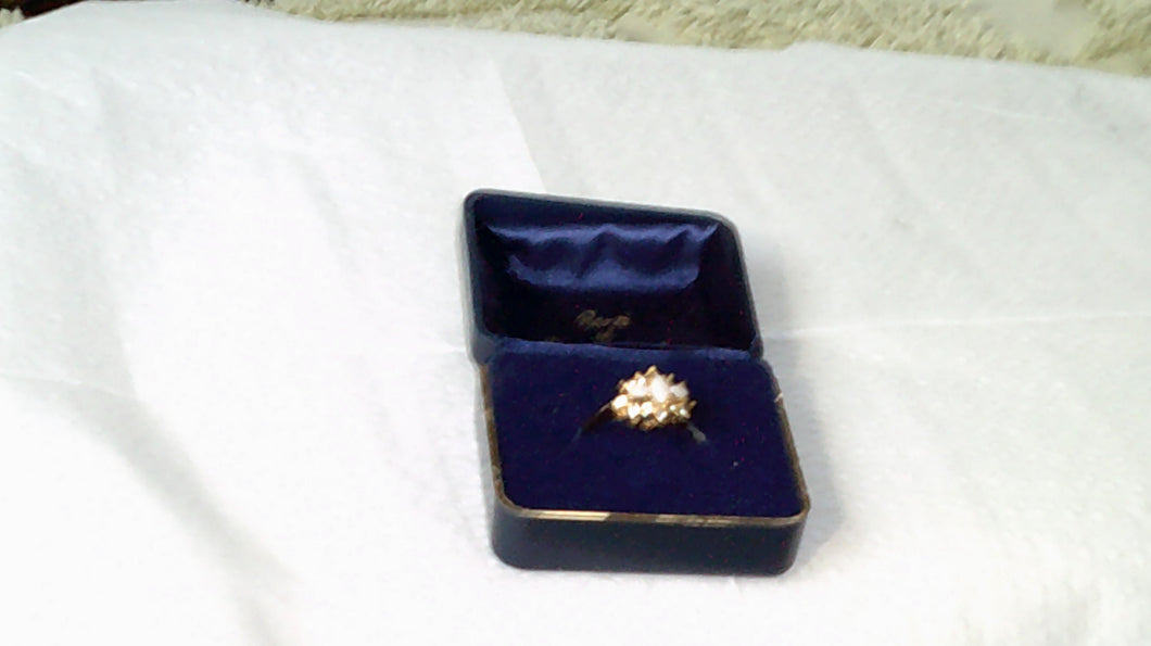 Vintage Ronte of Beverly Hills Opal and Crystal Ring - New