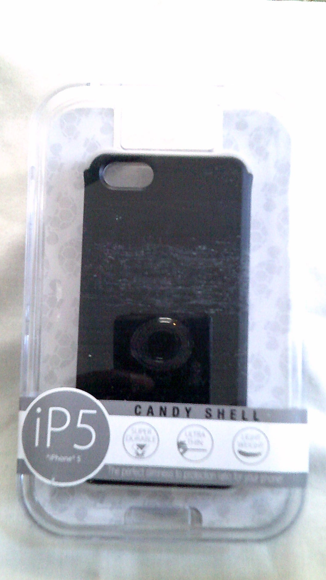 Turtle Box Black/Grey Thin CandyShell Armor for iPhone 5 - New