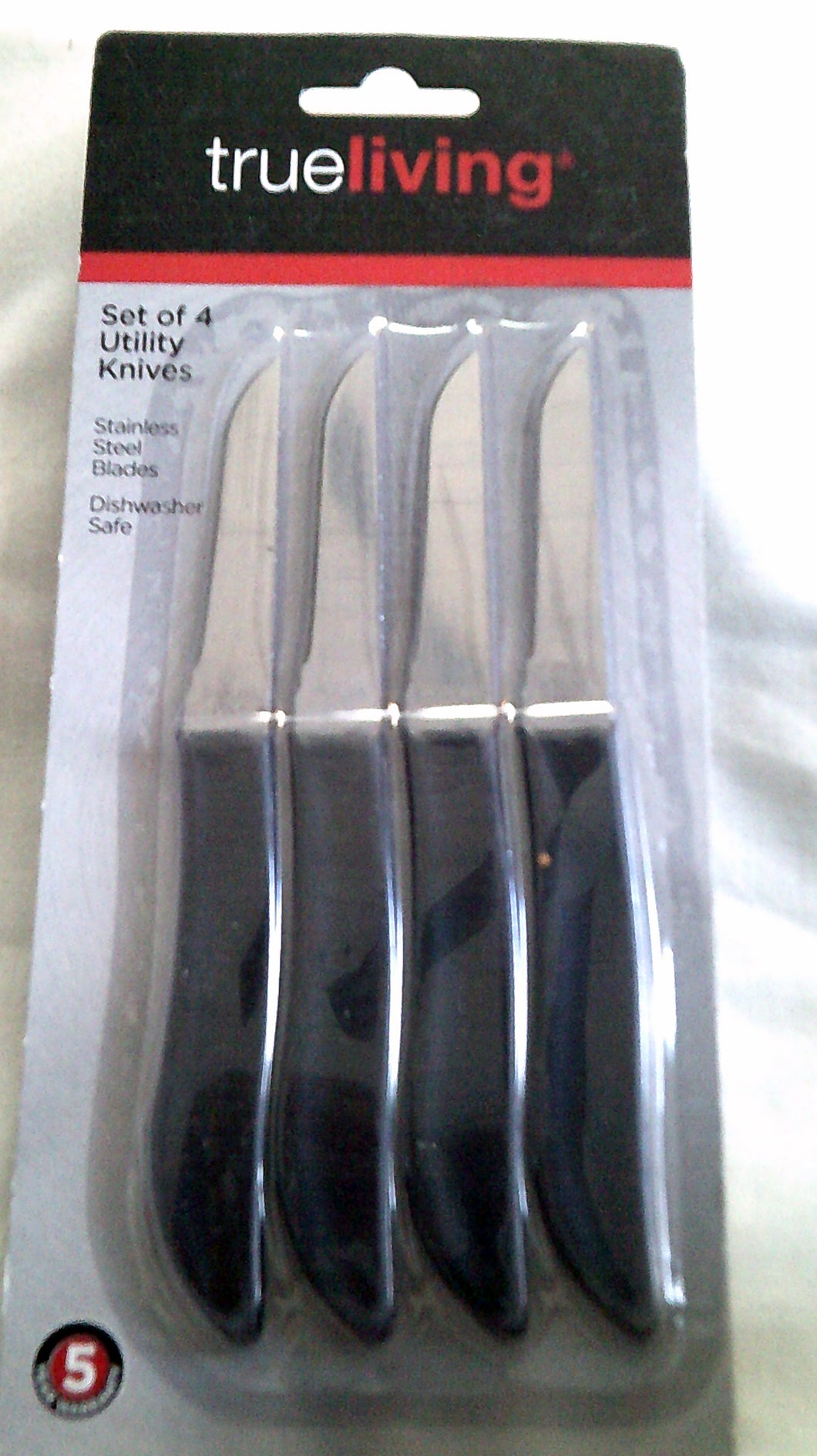 Set of 4 Trueliving Utility Knives or 4 Steak Knives  - New
