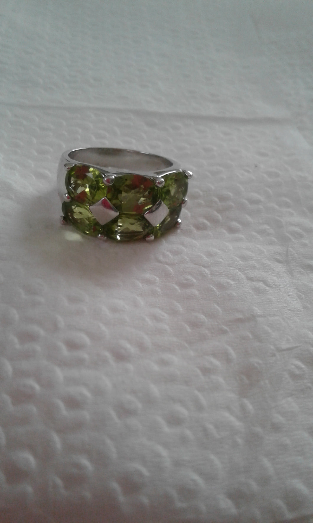 Artisan .925 Sterling Silver & Peridot Gemstone Ring - New
