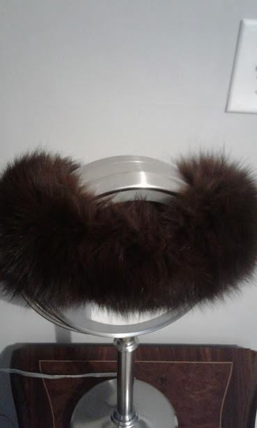 Dark Brown Fox Head Wrap - Plush!