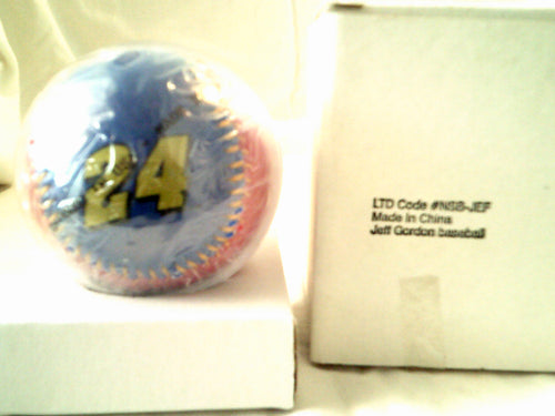 Jeff Gordon No. 24 Autographed Nascar Replica Baseball with Authenticity Certificate