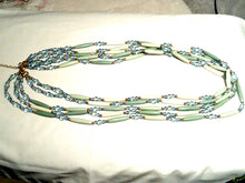 Multi-Strand Turquoise Colored and Blue Beaded Necklace/Belt - New!