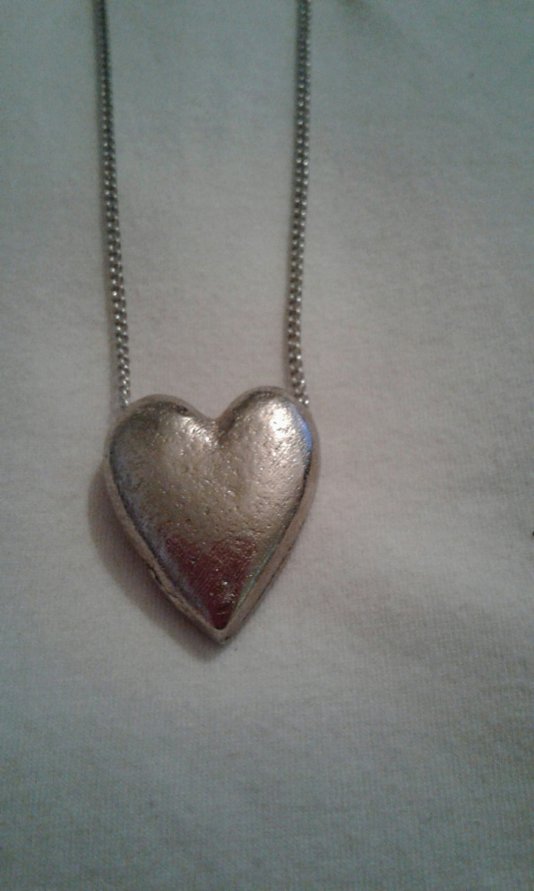 SOLID STEEL HEART NECKLACE