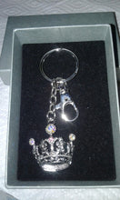 "Key Finder Purse Bling Large ""Jeweled Crown"" Keychain Hook"