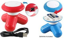Handheld Mighty Relaxing Mini Massager - Vibrating on the go USB Cable or Batteries!  Cute!