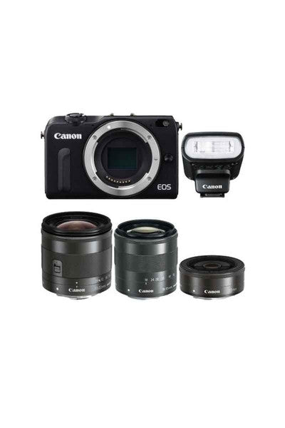 Canon M2 kit (11-22, 18-55, 22mm, 90EX) Black(Jap)