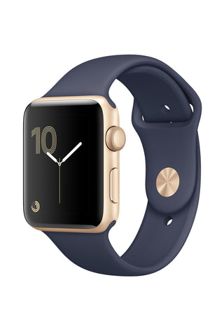 Apple Watch 2 38mm Gold Aluminium Case With Midnight Blue Sport Band MQ132