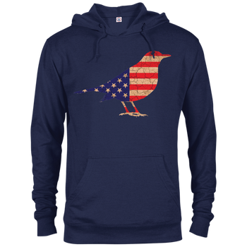 Bird Flag 97200 Delta French Terry Hoodie birding birdnerd birdwatching