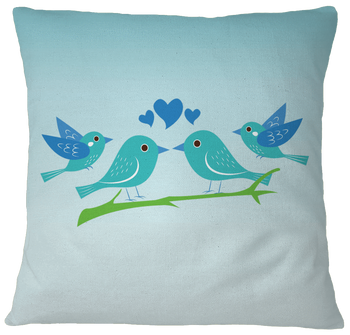 Blue Pillow Case Cover - White birding birdnerd birdwatching