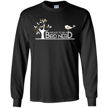 G240 Gildan LS Ultra Cotton T-Shirt birding birdnerd birdwatching