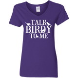 G500VL Gildan Ladies' 5.3 oz. V-Neck T-Shirt birding birdnerd birdwatching