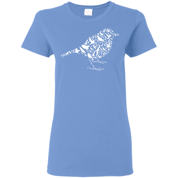 I Love Birds G500L Gildan Ladies' 5.3 oz. T-Shirt birding birdnerd birdwatching