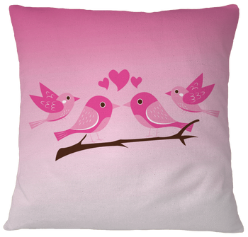 Pink Pillow Case Cover - White birding birdnerd birdwatching