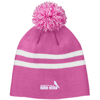 TT122 Team 365 Striped Pom Beanie birding birdnerd birdwatching