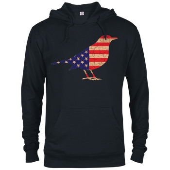 USA Flag Bird 97200 Delta French Terry Hoodie birding birdnerd birdwatching