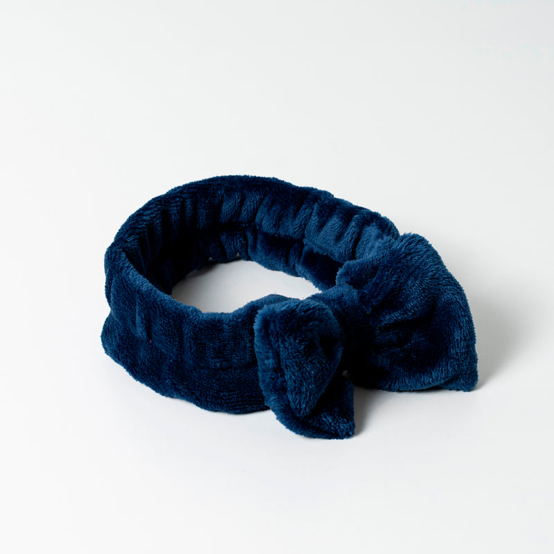 Super Fluffy Cute Spa Headband Navy