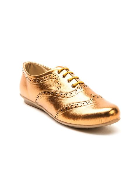 Scamanus Copper-Toned Casual Shoes