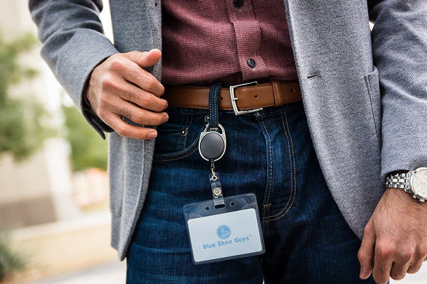 Heavy Duty Retractable Badge Holders - Blue Shoe Guys