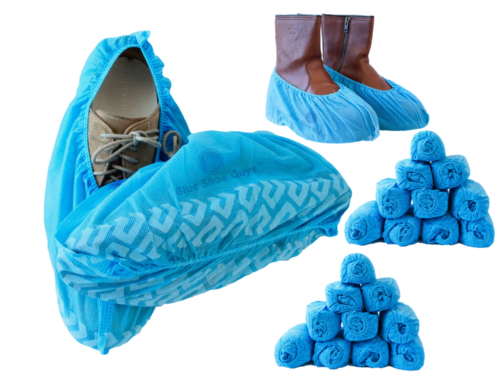 Premium Disposable Boot & Shoe Covers - Blue Shoe Guys