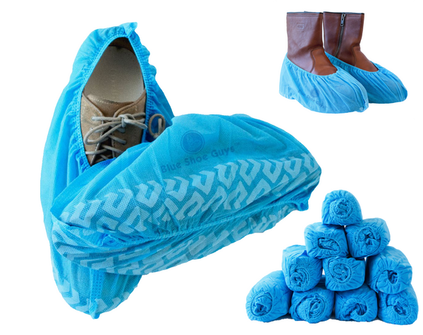 Blue Shoe Guys Disposable Shoe Covers & Boot Booties | 100 Pack