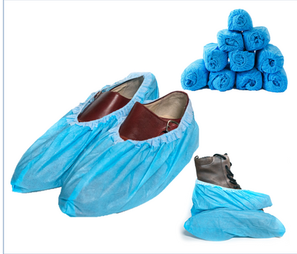 Premium Disposable Boot & Shoe Covers (Waterproof Version) - Blue Shoe Guys