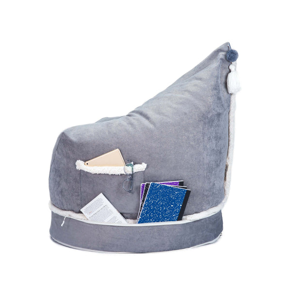 Corduroy Metallic Storage Lounger