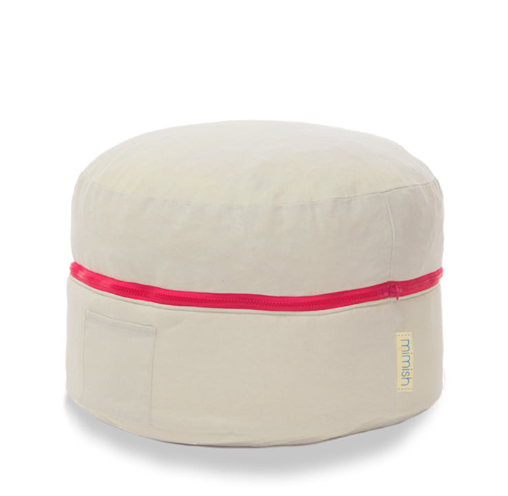 Storage Pouf - [product_title} with Zipper - mimish, inc.