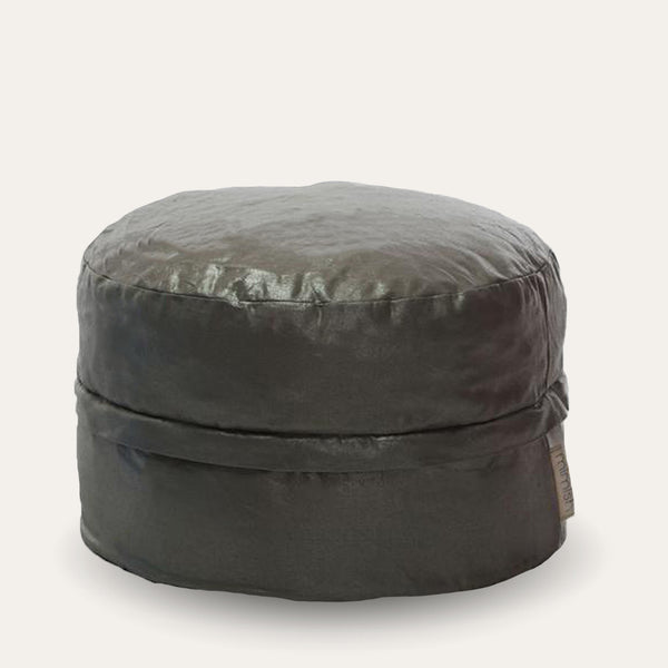 Cotton Metallic Storage Pouf