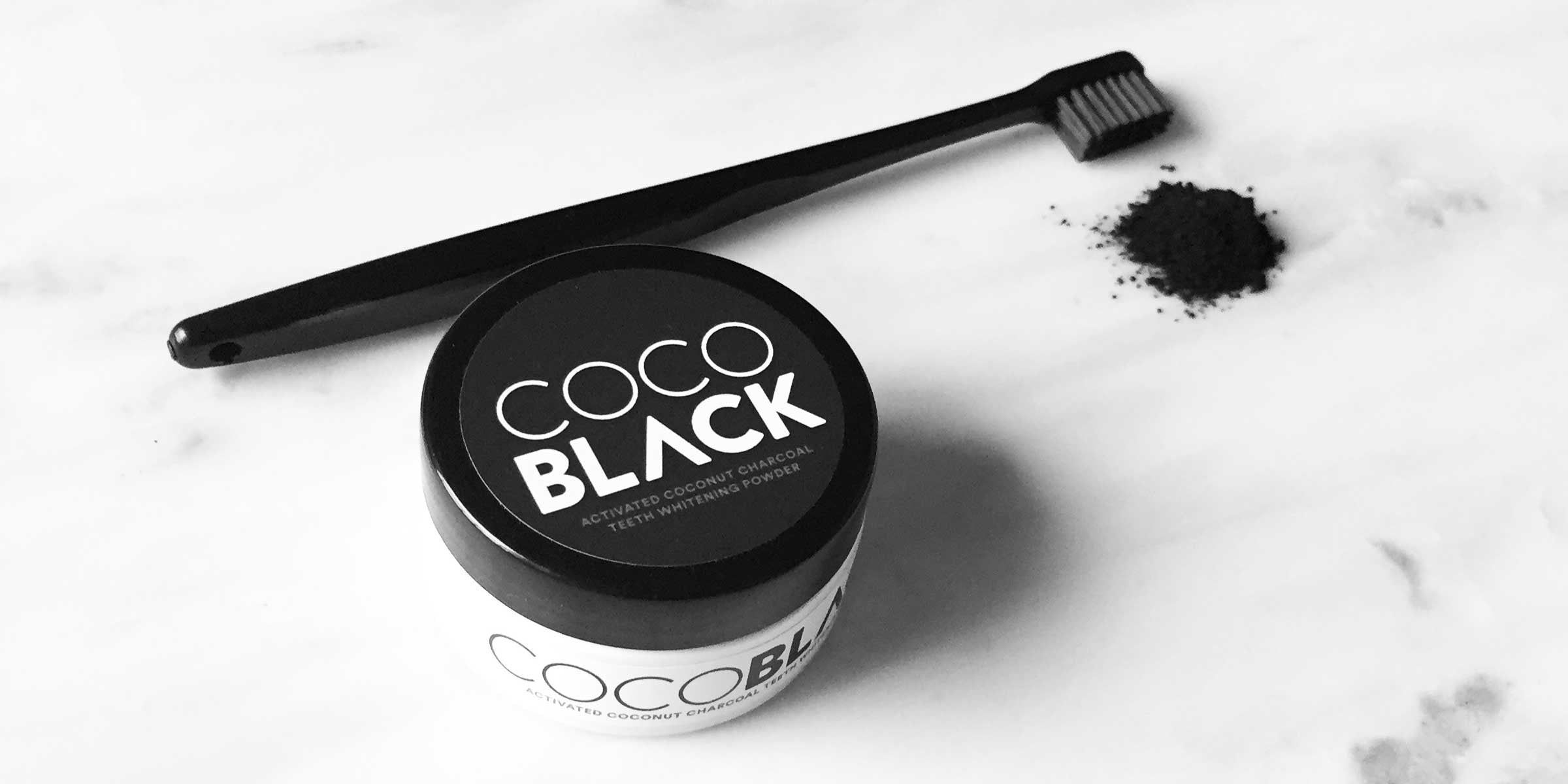 Stylised Activated Charcoal Teeth Whitening Powder With Toothbrush