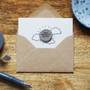 'You Brighten My Day' Tiny Token Card