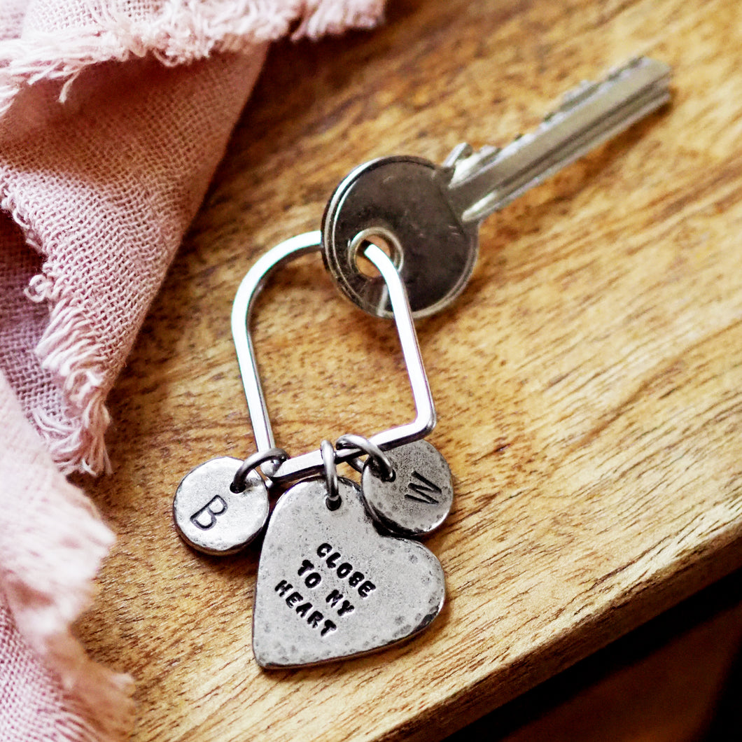 'Close to My Heart' Family Initials Keyring