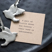 Load image into Gallery viewer, Two Turtle Doves Friendship Keyring Set