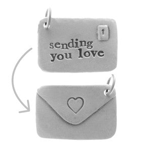 'Sending You Love' Envelope Charm