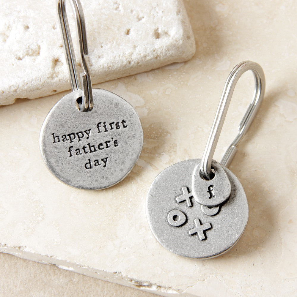'Happy First Father's Day' Keyring