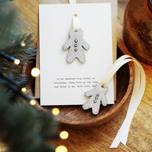 Personalised Gingerbread Tree Charm