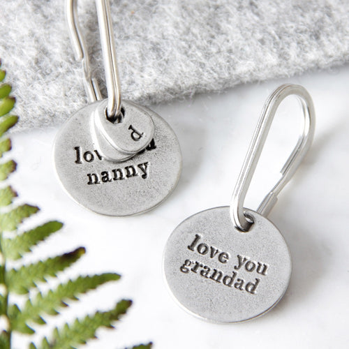 Nanny and Grandad Keyrings